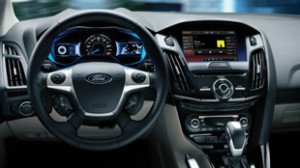 ford focus electric inside